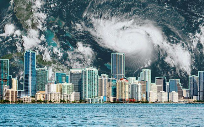A satellite image of Hurricane Dorian (Credit: Getty Images, iStock)