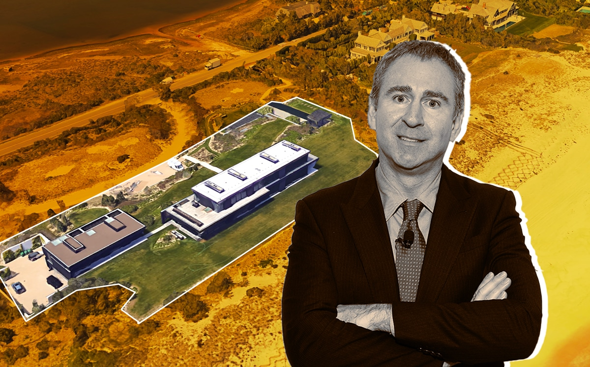 Ken Griffin and Calvin Klein's Hamptons compound (Credit: Getty Images, Google Maps)