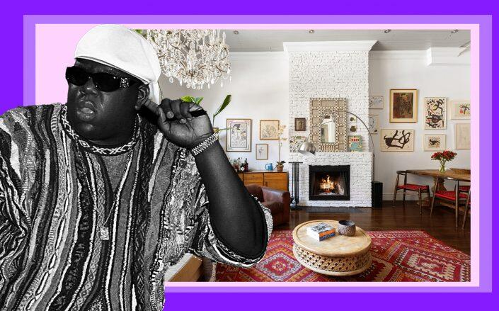 Notorious B.I.G. and 159 Carlton Avenue (Getty, Compass)
